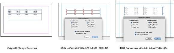 Markzware ID2Q QuarkXPress 9 10 Mac Auto Adjust Tables