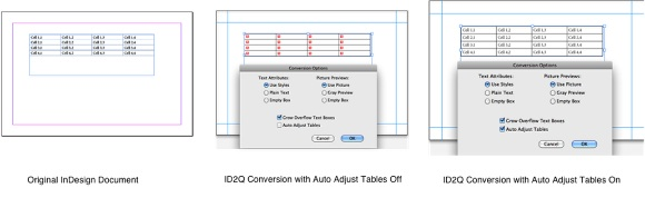 Markzware ID2Q QuarkXPress 9 10 Mac Auto Adjust Tables