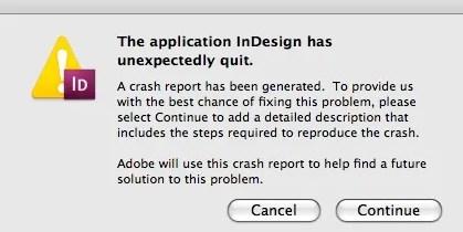 La aplicación de InDesign se ha cerrado inesperadamente. Markzware recuperación de archivos puede ayudar.