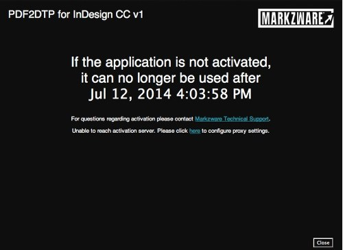 Markzware PDF2DTP for InDesign CC Mac Win Non-Activated Product