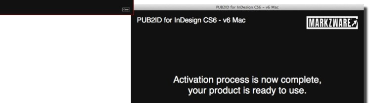 Markzware Pub2ID for InDesign CS6 Activation