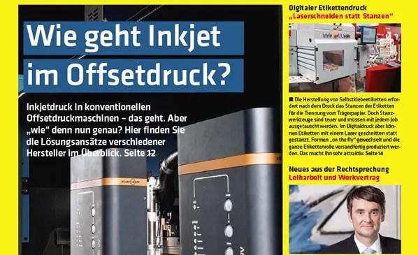 Deutscher Drucker Magazine for German printing industry