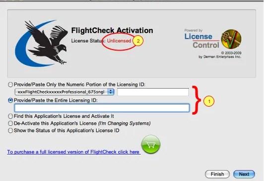 Markzware FlightCheck Professional Initial Activation Window