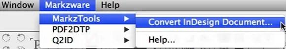Convertir Adobe InDesign CC 2014 versions supérieures à CS6 CS5 fichiers inférieurs avec MarkzTools