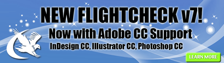 FlightCheck v7 with Adobe CC Support banner