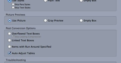 Markzware ID2Q QuarkXPress 9 10 Mac No mostrar la opción en Opciones de conversión