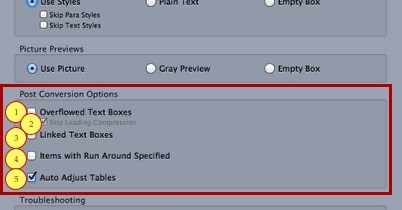 Opciones Fix Markzware ID2Q QuarkXPress 9 10 de conversión Mac Mensaje