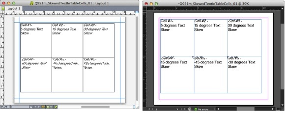 Markzware Q2ID for InDesign CC Skewed Text in Table Cells