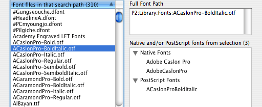 Markzware FlightCheck Windows Menu Font Database
