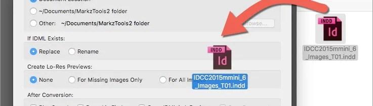 Markzware MarkzTools2 Drag and Drop om InDesign converteren naar IDML