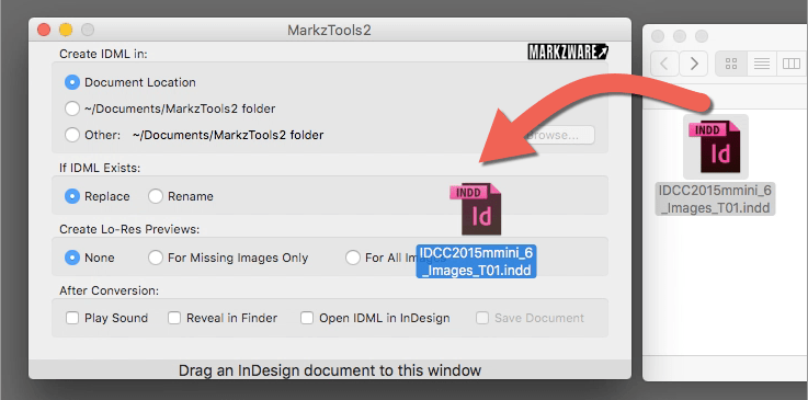Zware MarkzTools2 Drag and Drop zu konvertieren InDesign IDML