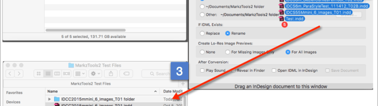 Drag and Drop Files onto Markware's MarkzTools2 Application to Convert InDesign to IDML