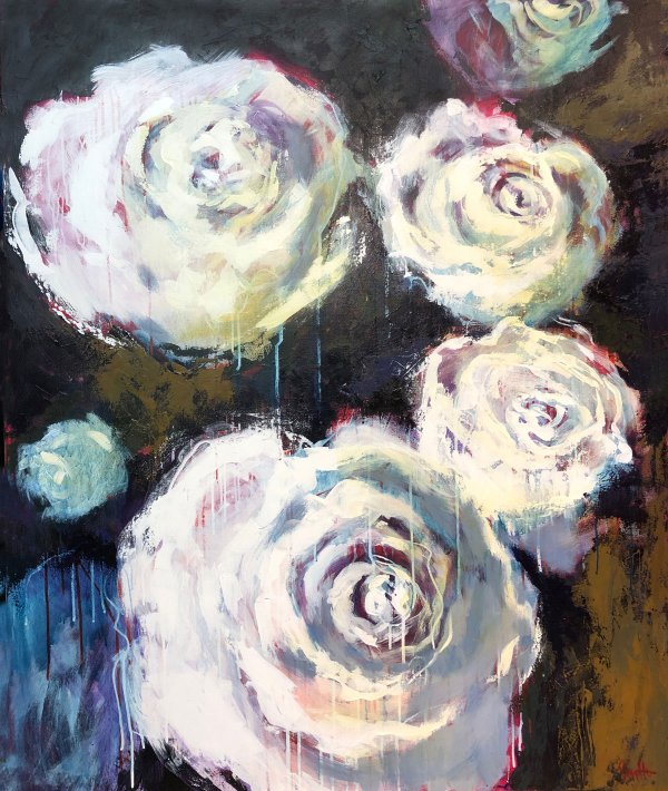 Noticing White - 48 x 60 -Acrylic