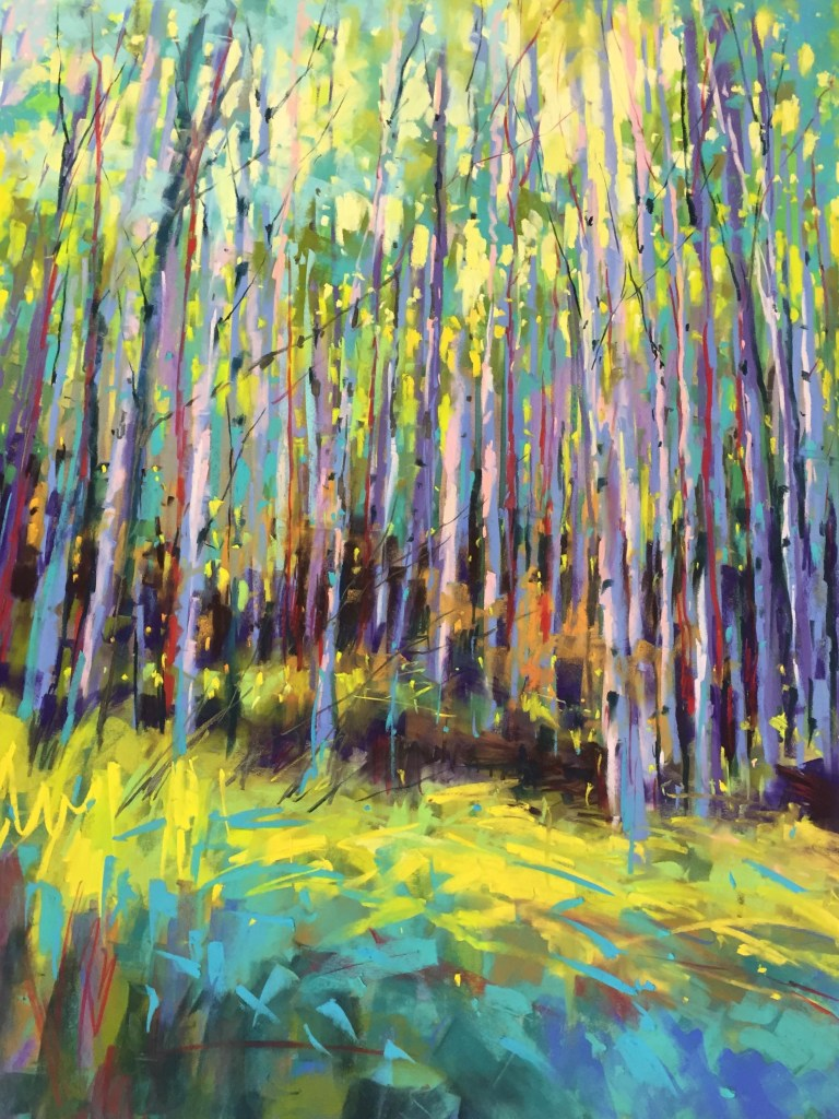 Forest Light pastel