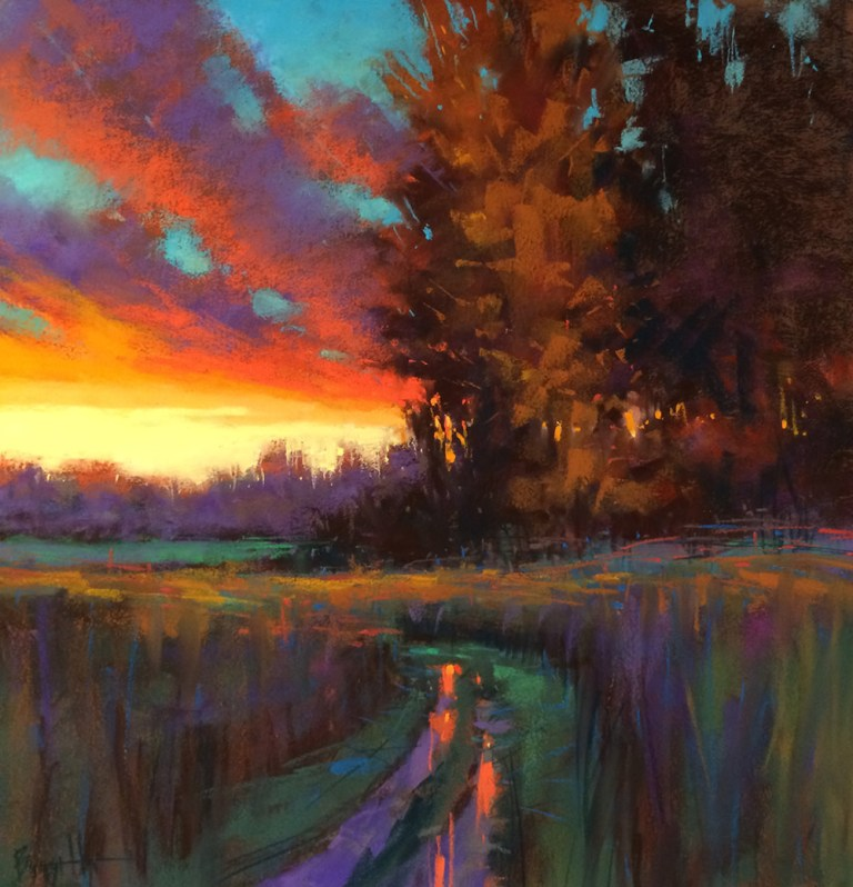 Sunset Walk pastel