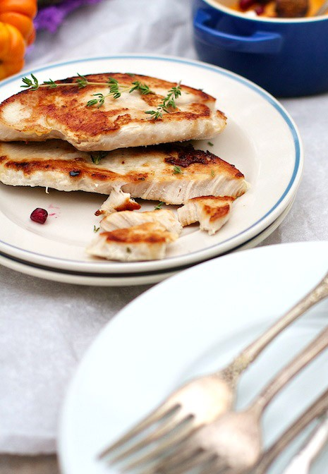 Quick Pan Seared Turkey Cutlets | MarlaMeridith.com