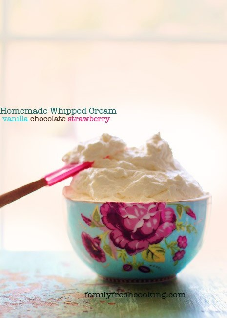 Whipped cream in Pip Studio rose bowl with pink spatula