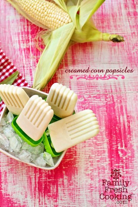 Cream Corn Popsicles on MarlaMeridith.com