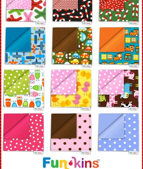 Funkins ~ Re-usable cotton fabric napkins | Giveaway on MarlaMeridith.com