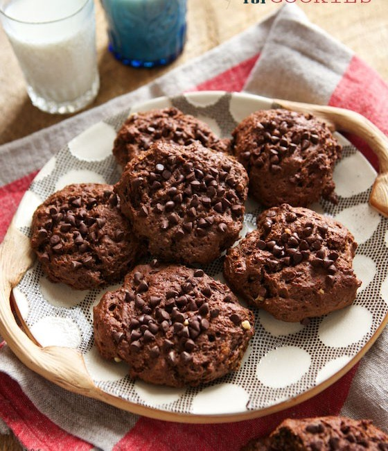 Brownie Peanut Butter Muffin Top Cookies | MarlaMeridith.com