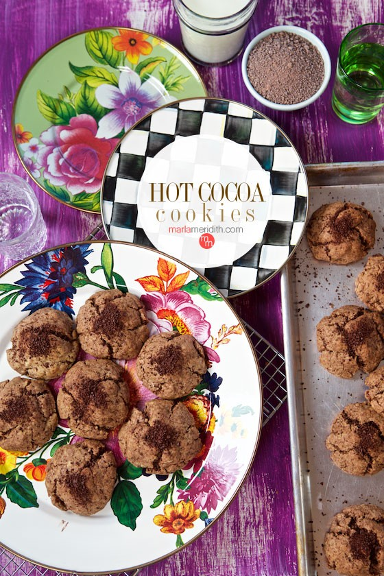Hot Cocoa Cookies are a true treat for chocoholics! Get the recipe on MarlaMeridith.com
