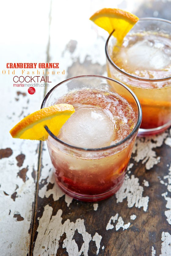 A refreshing summer cocktail: Try these Cranberry Orange Old-Fashioned cocktails. Get the recipe on MarlaMeridith.com