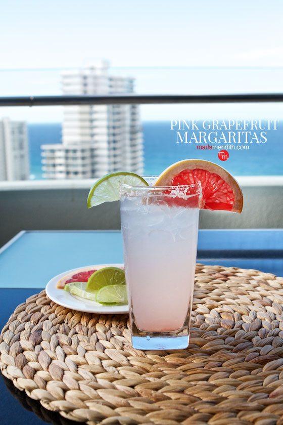 Pretty Pink Grapefruit Margaritas recipe | MarlaMeridith.com