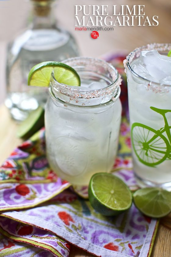 For the marg purists...Pure Lime Margaritas recipe on MarlaMeridith.com