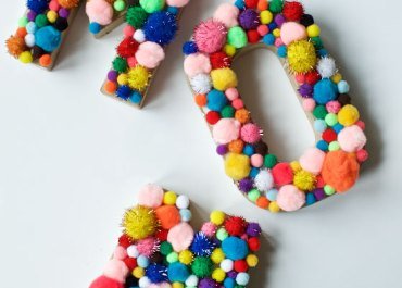 DIY Pom Pom Letters for MOM!