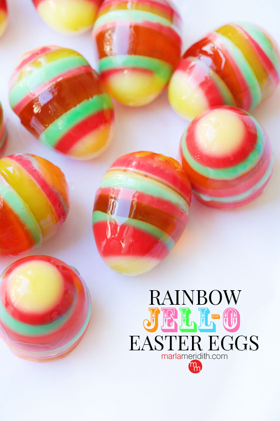 Make these Jell-O Easter eggs with your kids! MarlaMeridith.com