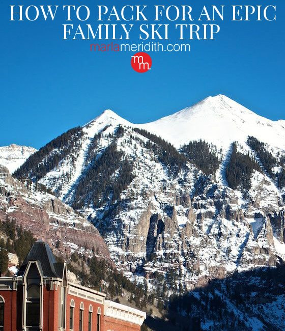 How to Pack for an EPIC Family Ski Trip with a printable checklist! MarlaMeridith.com #ski #family #travel