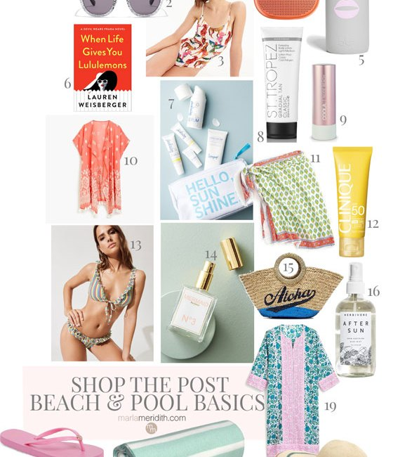 Shop the Post: Beach & Pool Basics, what you need for fun in the sun! MarlaMeridith.com