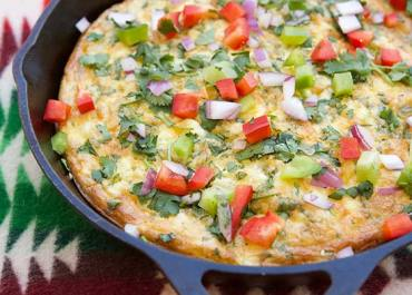 Our Family Favorite Frittata recipe is always a hit in my house and I'm sure it will be in yours too! This recipe goes from prep to table min under 30 minutes. Details on marlameridith.com #eggs #food #recipe
