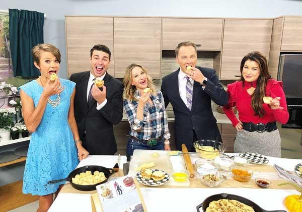Marla Meridith presents Cast Iron Skillet Cinnamon Rolls with Pumpkin Maple Cream Cheese Frosting on FOX Denver Morning News.