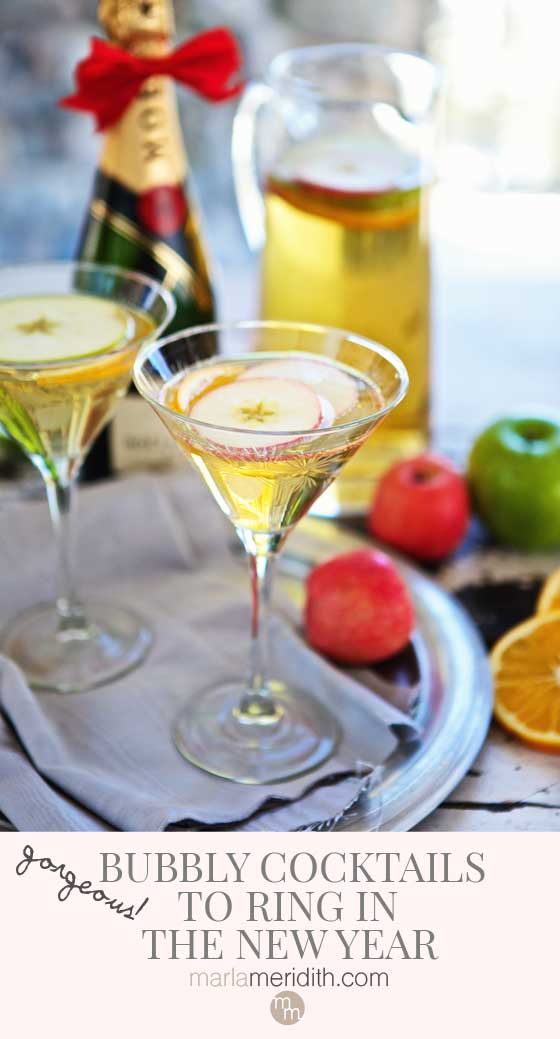Gorgeous Bubbly Cocktails to Ring in the New Year! MarlaMeridith.com
