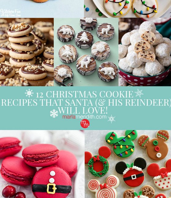 Want to impress everyone you know this holiday season? Then you need to get baking! Test your skills with these 12 Christmas Cookie Recipes that Santa will Love! MarlaMeridith.com