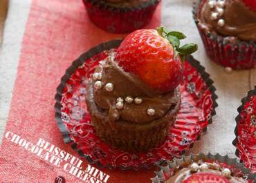 We love this Mini Chocolate Cheesecakes recipe for Valentine's Day and anytime you want to tell someone you love them with a chocolate sweet treat! MarlaMeridith.com
