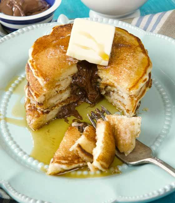 You can't say no to these Completely Delicious Nutella Stuffed Pancakes! The recipe is really fun to prepare and even more fun to eat. Serve for any breakfast or brunch! MarlaMeridith.com