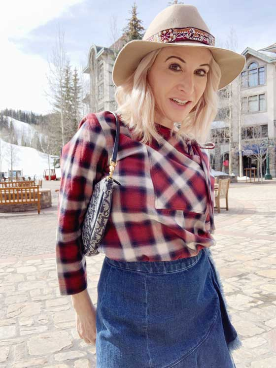 You can't go wrong pairing a Plaid Shirt with a Denim Skirt and Cute Booties. A cute look for date night, girls night out or those fun summer festivals. Shop the post for great styles! MarlaMeridith.com