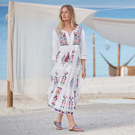 Shop the post: The Perfect White Summer Peasant Dress ✮ MarlaMeridith.com
