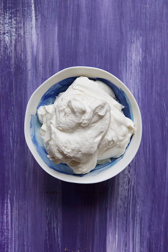 I use this simple Maple Vanilla Bean Whipped Cream in my coffee, great on pies and ice cream too! MarlaMeridith.com