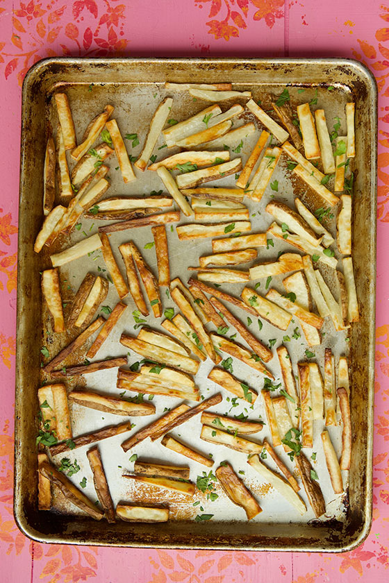 Quick, Easy & Crispy Baked French Fries recipe   MarlaMeridith.com