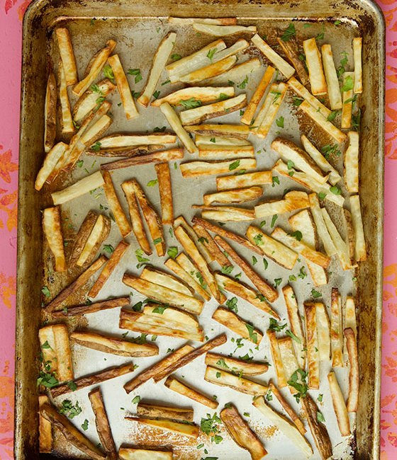 Quick, Easy & Crispy Baked French Fries recipe | MarlaMeridith.com