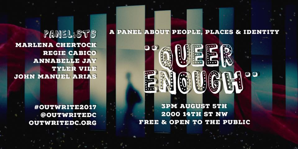 Queer Enough panel at OutWrite 2017