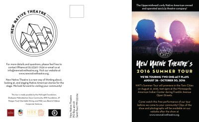 New Native Theatre Summer Tour pamphlet