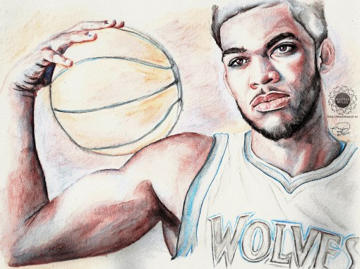 Karl-Anthony Towns Watercolor