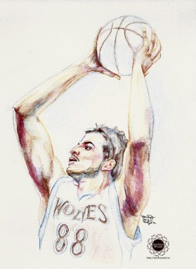 Nemanja Bjelica watercolor