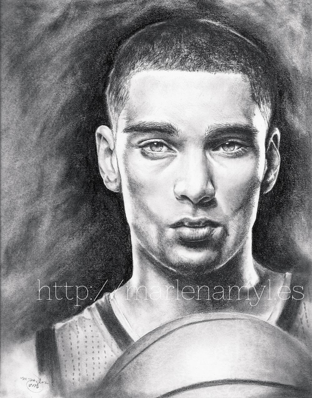Portrait drawing of Zach LaVine