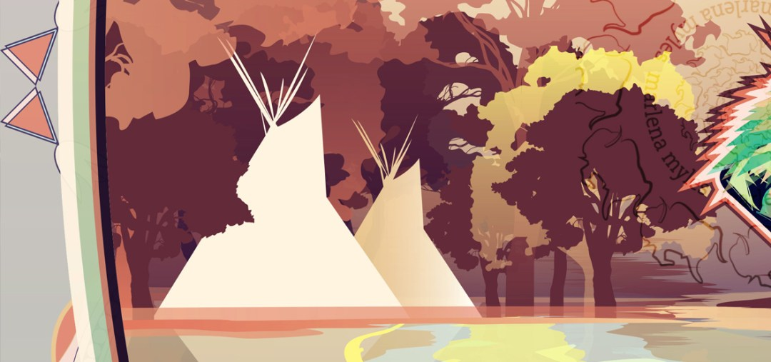 The Minnesota River: Walleye & Dakota people's beautiful homeland artwork by Marlena Myles