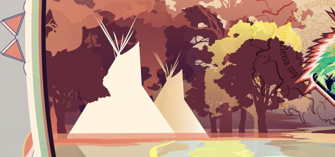 The Minnesota River: Walleye & Dakota people's beautiful homeland artwork by Marlena Myles
